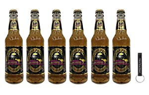Flying Cauldron Butterscotch Beer 12oz (Pack of 6) Bundled with PrimeTime Direct Keychain Bottle Opener in a PTD Box