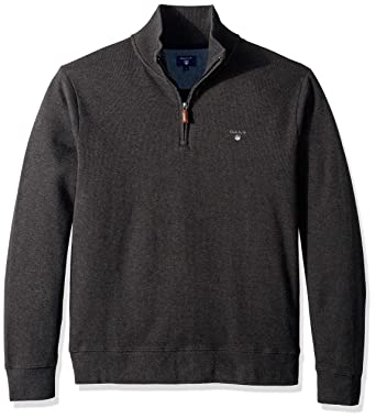 57fd4967 GANT Men's The Sacker Ribbed Half Zip Sweater at Amazon Men's Clothing  store:
