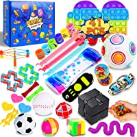 IGINOA 41 Pack Fidget Figetget Figet Sensory Toy Box Set Pop Popping Figit Anxiety Autism Stress Relieve Relief Pressure…