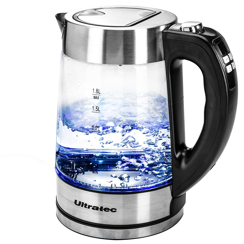 Ultratec Hervidor de Agua LED BlueVita200 con Ajuste de Temperatura 1 8 litros acero inoxidable/cristal 331400000252