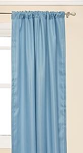 "Peri Home Formosa Curtain Panel, 84"", Aqua"
