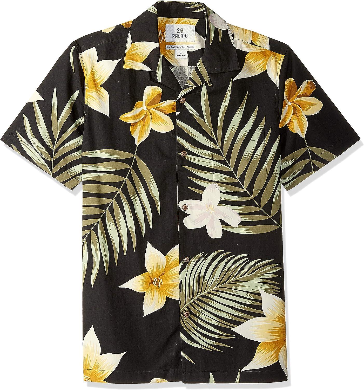 28 Palms Chemise hawa/ïenne /à motif tropical pour homme 100//% coton Marque