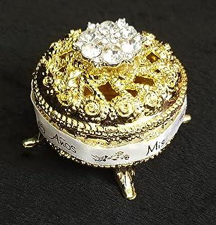 Amazon.com: 12 Plastic Gold Jewelry Box Favors, Joyero plastico para ...