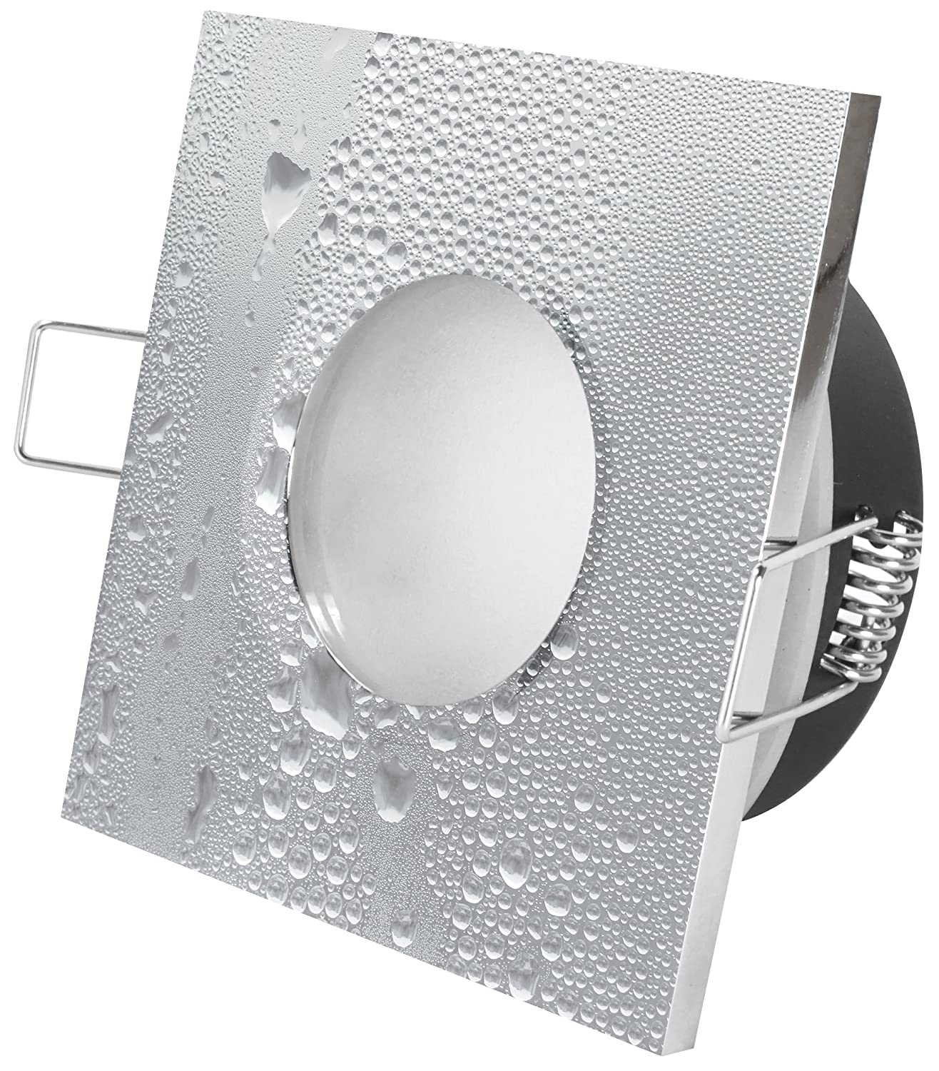 Ip65 Bathroom Recessed Downlight Square Chrome For 50 Mm Led And Wiring Up Downlights Halogen Bulbs Gu10 230 V Gu53 12 Socket Awning Cellar Shower