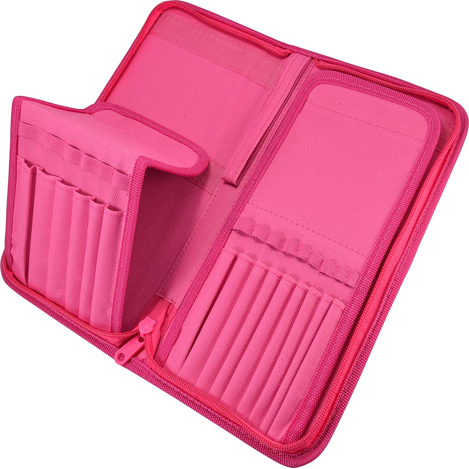 B013W6VF16 Paint Brush Holder - Organizer for 15 Short Handle Brushes - Storage for Acrylic, Oil & Watercolor Art Paintbrushes - Artists' Quality Supplies by MyArtscape™ (Hot Pink) 91j8uMPhWNL