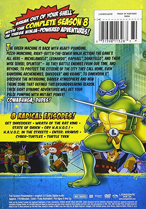 Teenage Mutant Ninja Turtles: Season 8 Reino Unido DVD ...