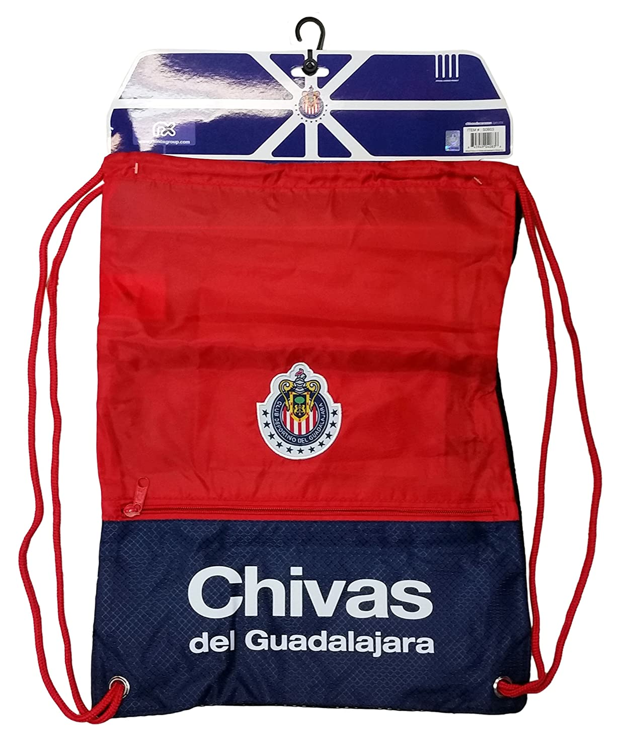 Merchandise Soccer Guadalajara Cinchバッグ、2016スタイル、Authentic de Chivas B01BQWB1GWレッド