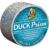 Duck Brand Prism Crafting Tape, 1.88-Inch x 5-Yard Roll, Lots of Dots Silver (284033)