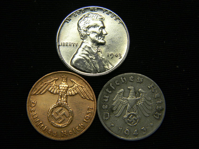 Amazon Au 1943 Steel Cent Nazi Coin Ww2 3rd Reich German Us