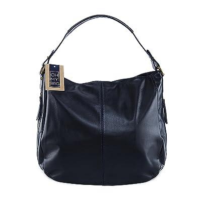 OH MY BAG Sac à main cuir lisse Cannes bleu fonce SOLDES  Amazon.fr ... 9e4c1fe4f55e