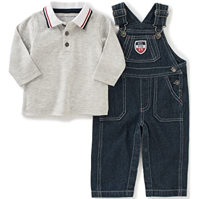 Tommy Hilfiger Baby Boys' Denim Overall with Polo Set