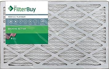 MERV 13 AFB Platinum FilterBuy 24x30x1 Pleated HVAC AC Furnace Air Filter