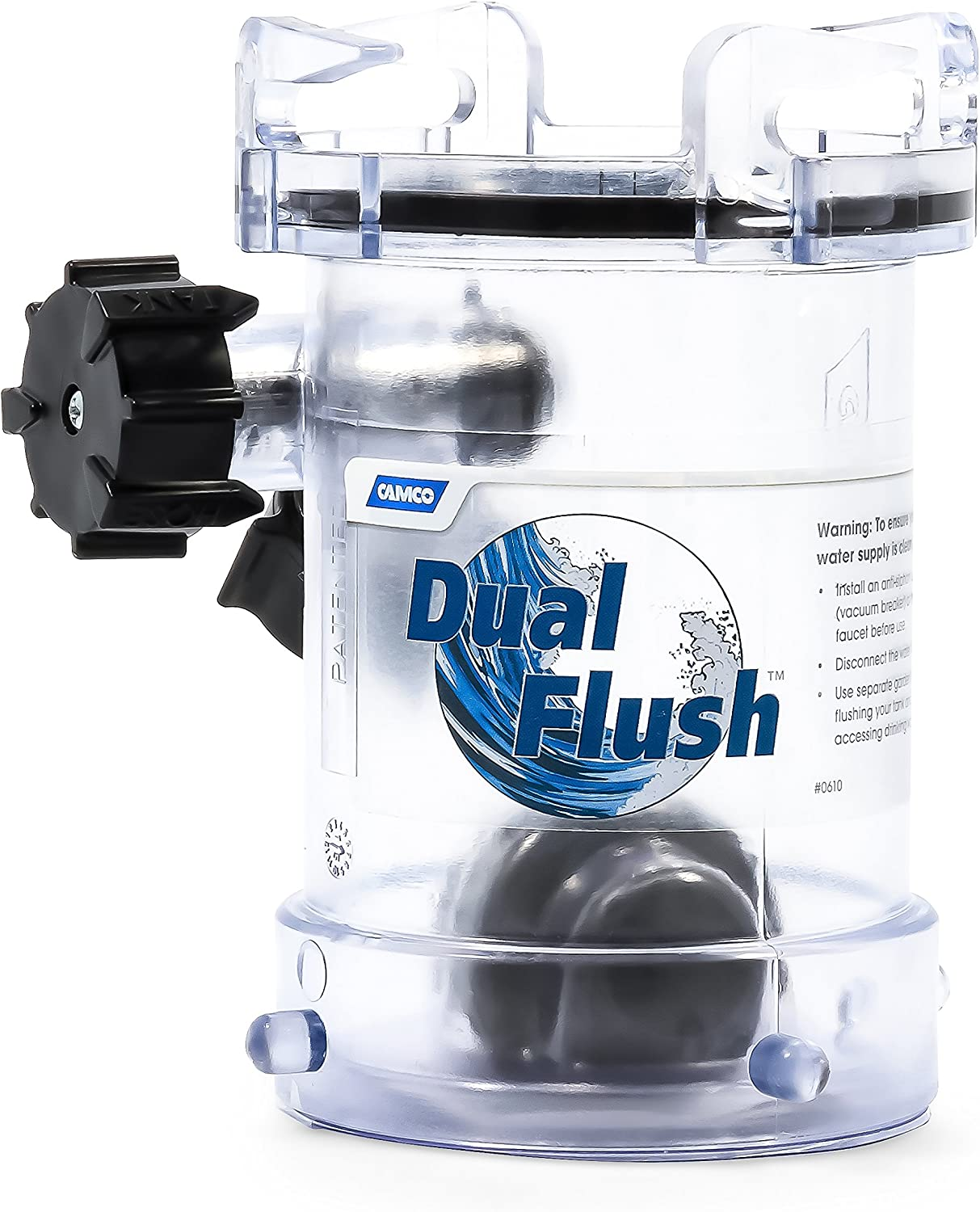 Amazon Com Camco Rv Dual Flush Rv Holding Tank Rinser Cleans And Removes Clogs From Sewer Lines With Two Way Jet Cleaning Action Helps Reduce Odors In Holding Tanks And Sewer Hoses