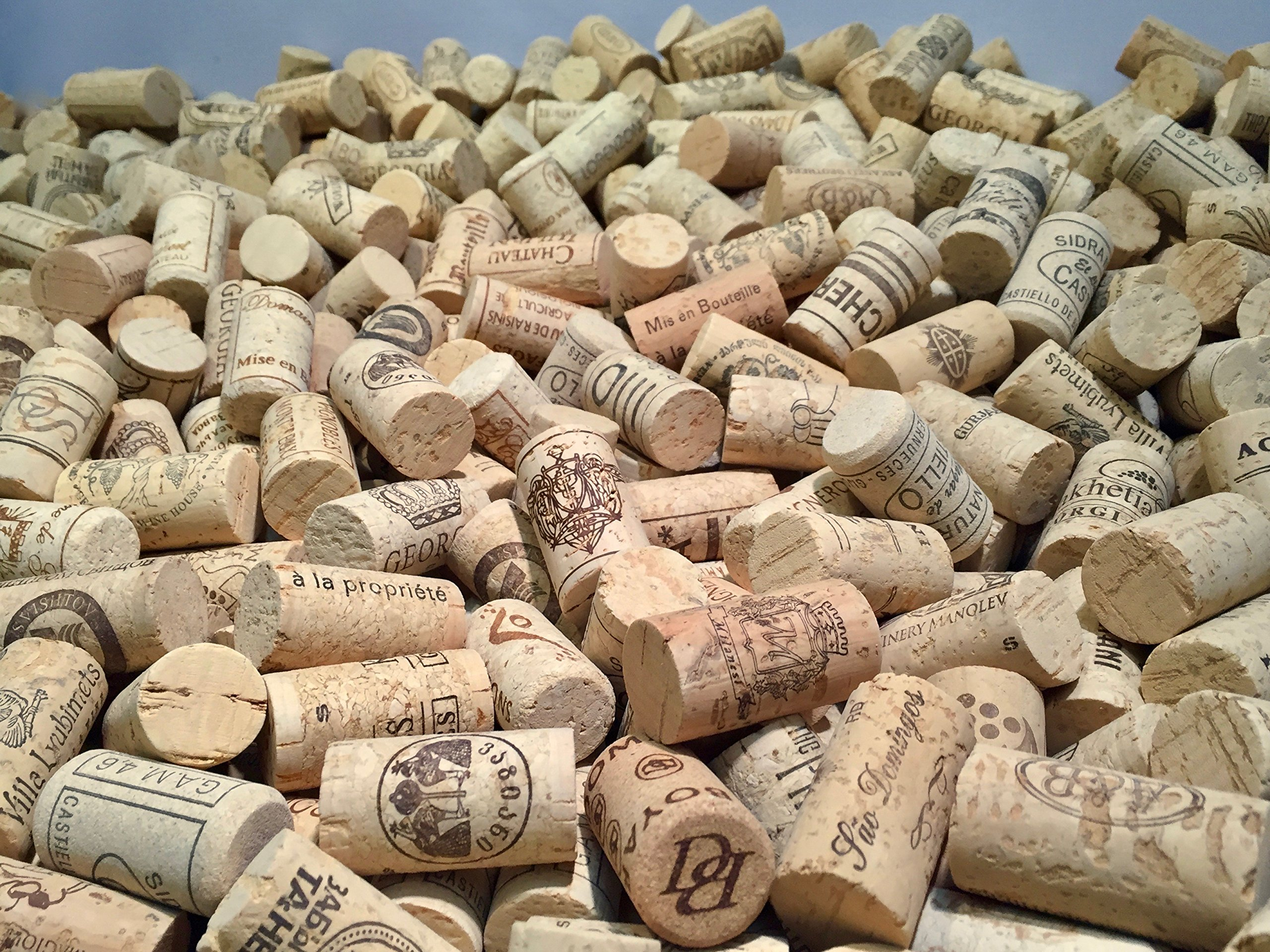 Wine Corks | Brand New, Authentic, All Natural | Printed, Winery-Marked, Craft Grade | Uncirculated, Uniform & Clean | Excellent for Crafting & Decor | Pack of 50/100/150/200 Premium Wine Corks (500) by Corkshire Hathaway (Image #7)