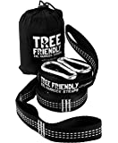 NEW ErgaLogik XXL Tree Friendly Suspension Hammock Straps - 20 Feet Total - 34 Loops (17 per Strap) - Heavy Duty - Camping Hammock Accessories, Hiking (White)