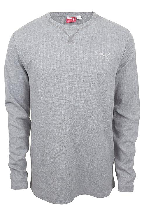 47d6c06b Puma Mens Lifestyle Thermal Tee Shirt (Grey, X-Large)