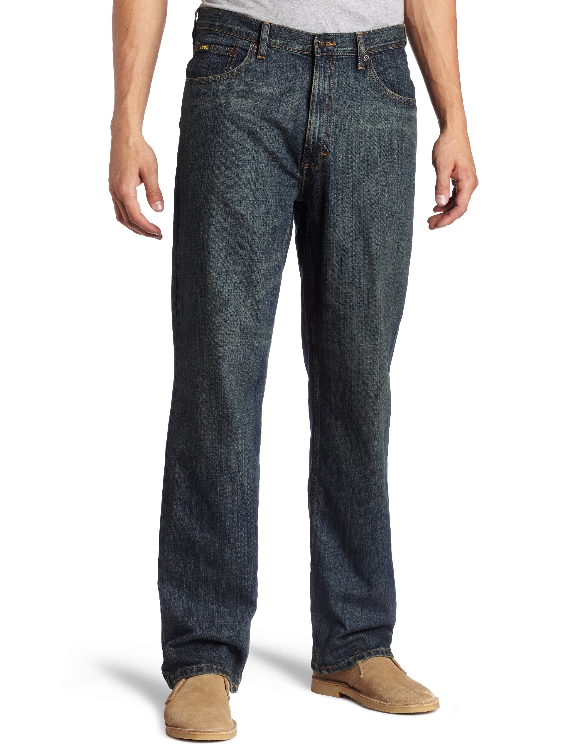 Lee Men's Premium Select Relaxed Fit Straight Leg Jean, Round Midnight, 42W x 29L