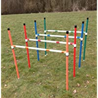 4 x stick in the ground dog agility jumps with fully adjustable height. (due to amazons new postage policy we can only post this item to mainland uk (England, Wales, and Scotland only))