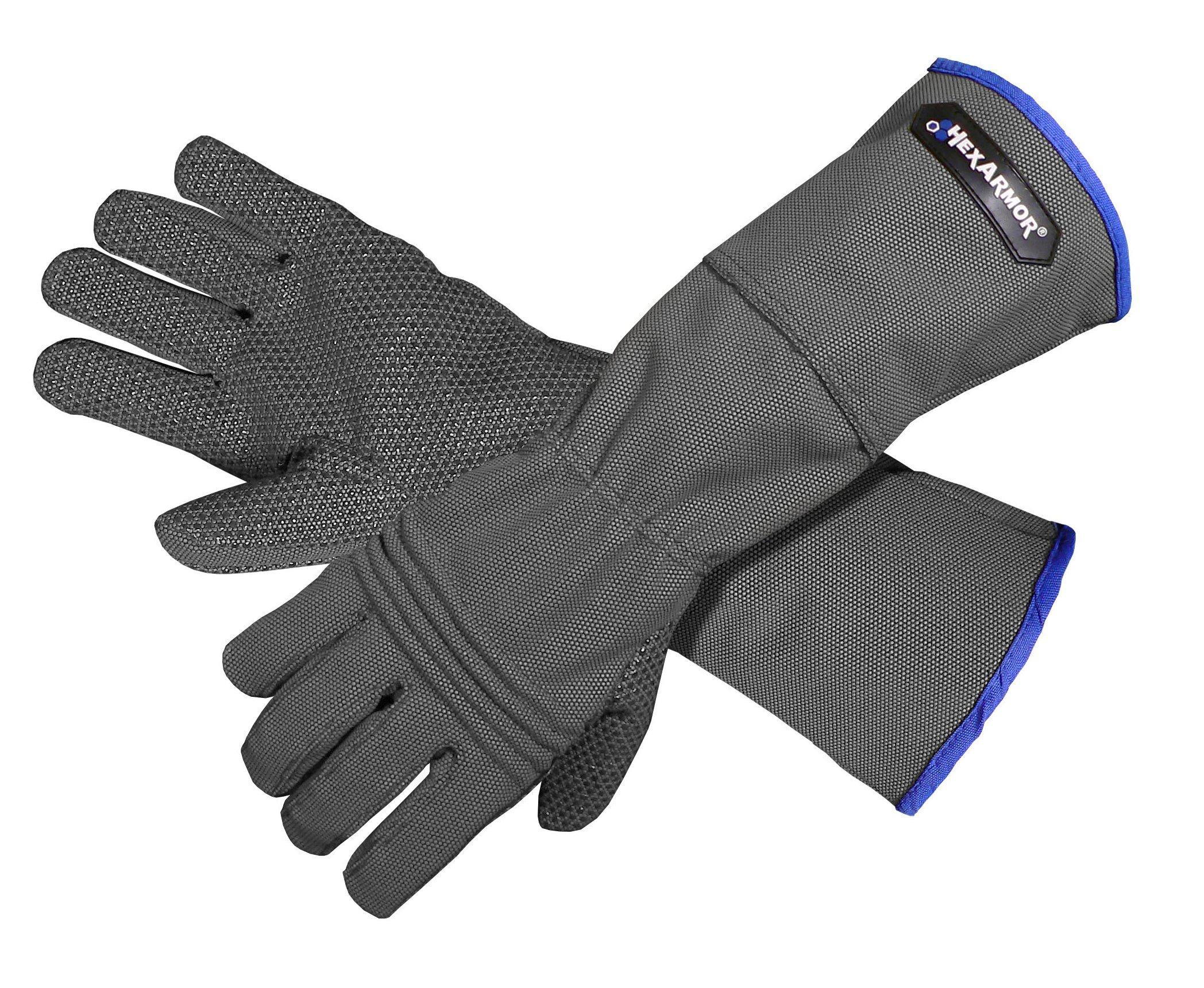 HexArmor 400R6E Hercules Heavy Duty Cut Puncture Needle Stick Resistant Work Safety Gloves Medium