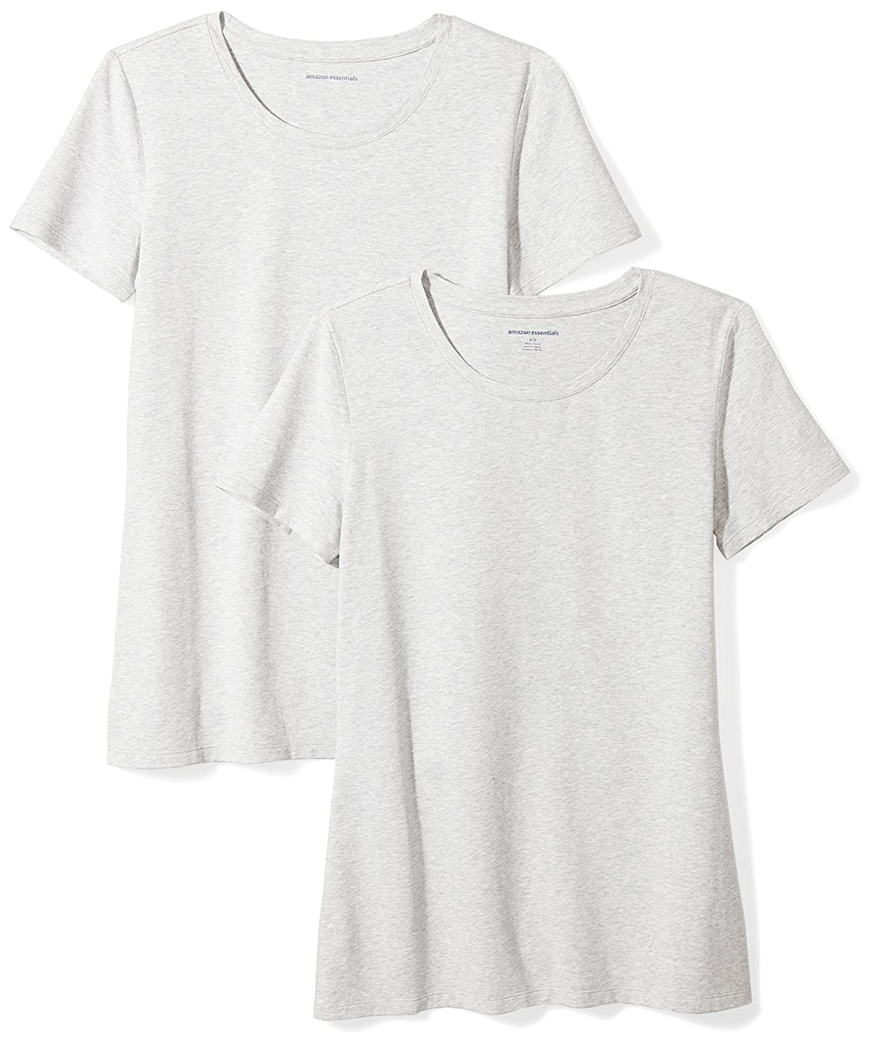 Amazon Essentials Women's 2-Pack Short-Sleeve Crewneck Solid T-Shirt WAE45054SP18