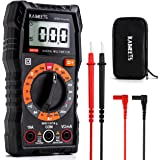 KAIWEETS Digital Multimeter with Case, DC AC Voltmeter, Ohm Volt Amp Test Meter and Continuity Test Diode Voltage Tester for