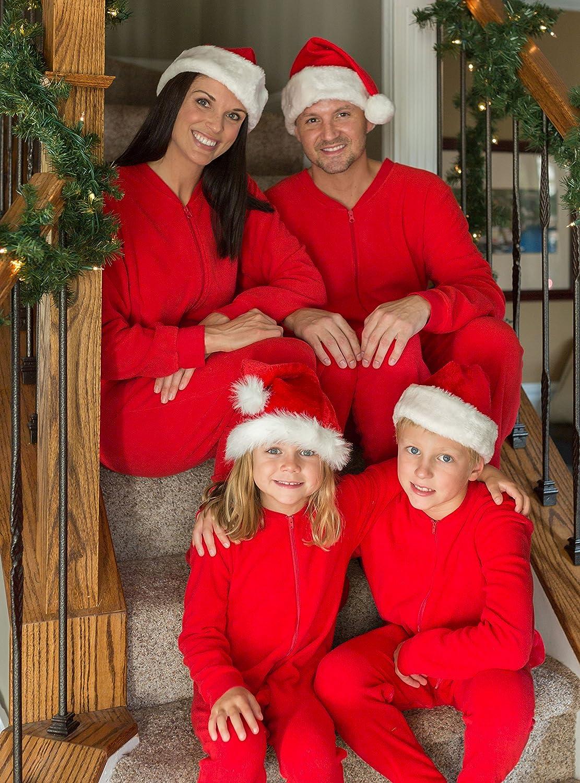 Amazon.com: SleepytimePjs Family Matching Christmas Red Fleece ...