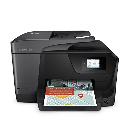HP OfficeJet Pro 8715 Multifunktionsdrucker (Instant Ink, Drucker, Scanner, Kopierer, Fax, WLAN, LAN, Duplex, Airprint) mit 3