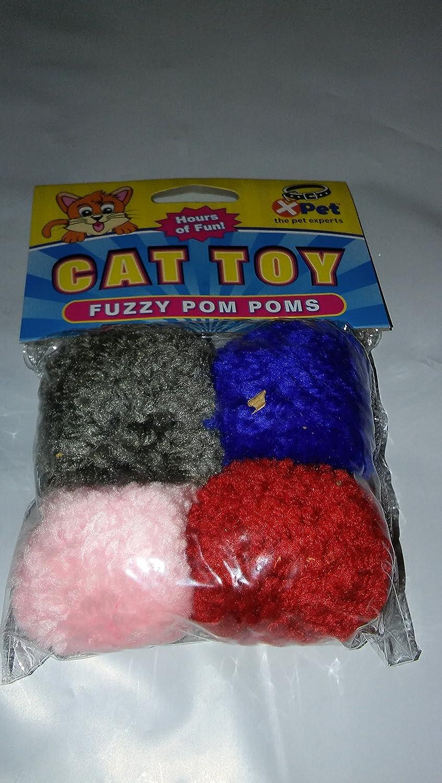 Vo-Toys Wool Pom Poms 4 pack Cat Toy