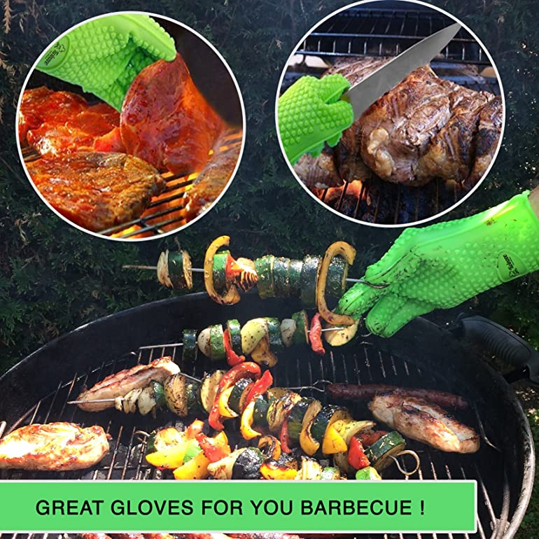 Heat Resistant Silicone BBQ Oven Gloves - The original Twinzee ...
