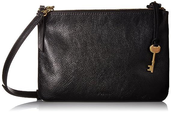 408bb90b8 Fossil Devon Crossbody Bag, Black: Handbags: Amazon.com