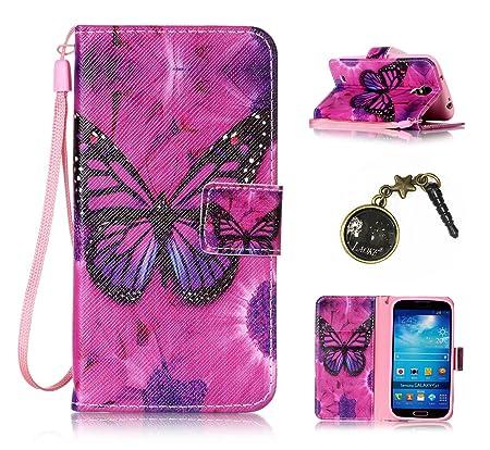 PU Galaxy S4 I9500(5 Zoll) Hülle, Klappetui Flip Cover Echt Leder Tasche für Samsung Galaxy S4 I9500(5 Zoll) Flip Cover Handy