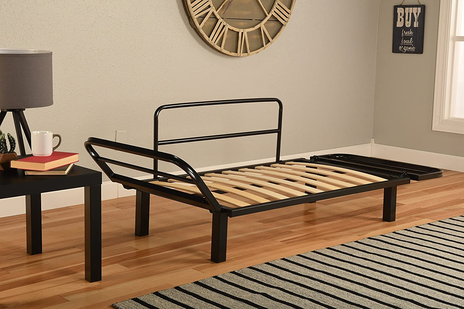 Best Futon Lounger - Frame ONLY - Sit Lounge Sleep - Small Furniture for  College Dorm, Bedroom Studio Apartment Guest Room Covered Patio Porch