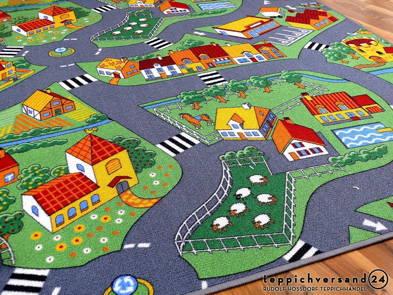 80x240 cm Tapis de jeu pour enfant Little village motifs village - 17 tailles disponibles, Taille:03
