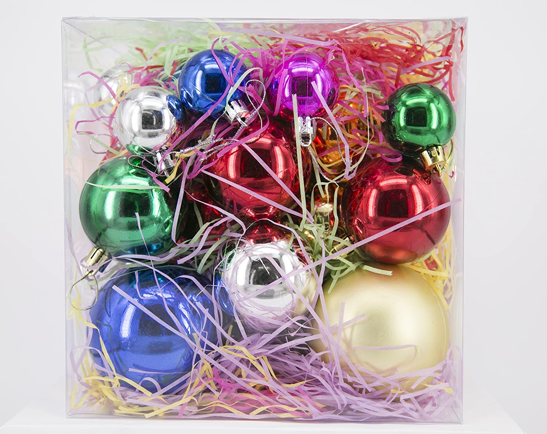 Multicolour Tree Ornaments Hooks included 20 balls, multicolour ...