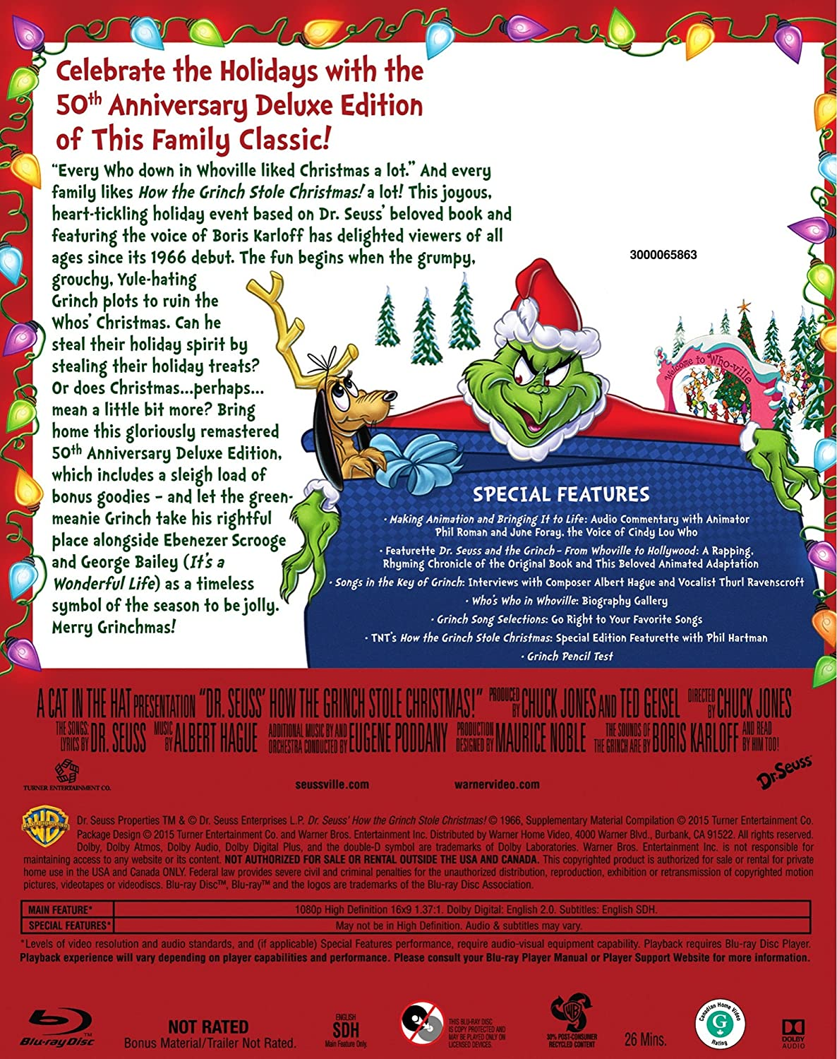 Amazon.com: How The Grinch Stole Christmas: 50th Anniversary ...