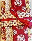 Tilda Paquet de tissus blomer rouge 5 RAYURES A 20 x 70 cm ORIGINAL tildastoff