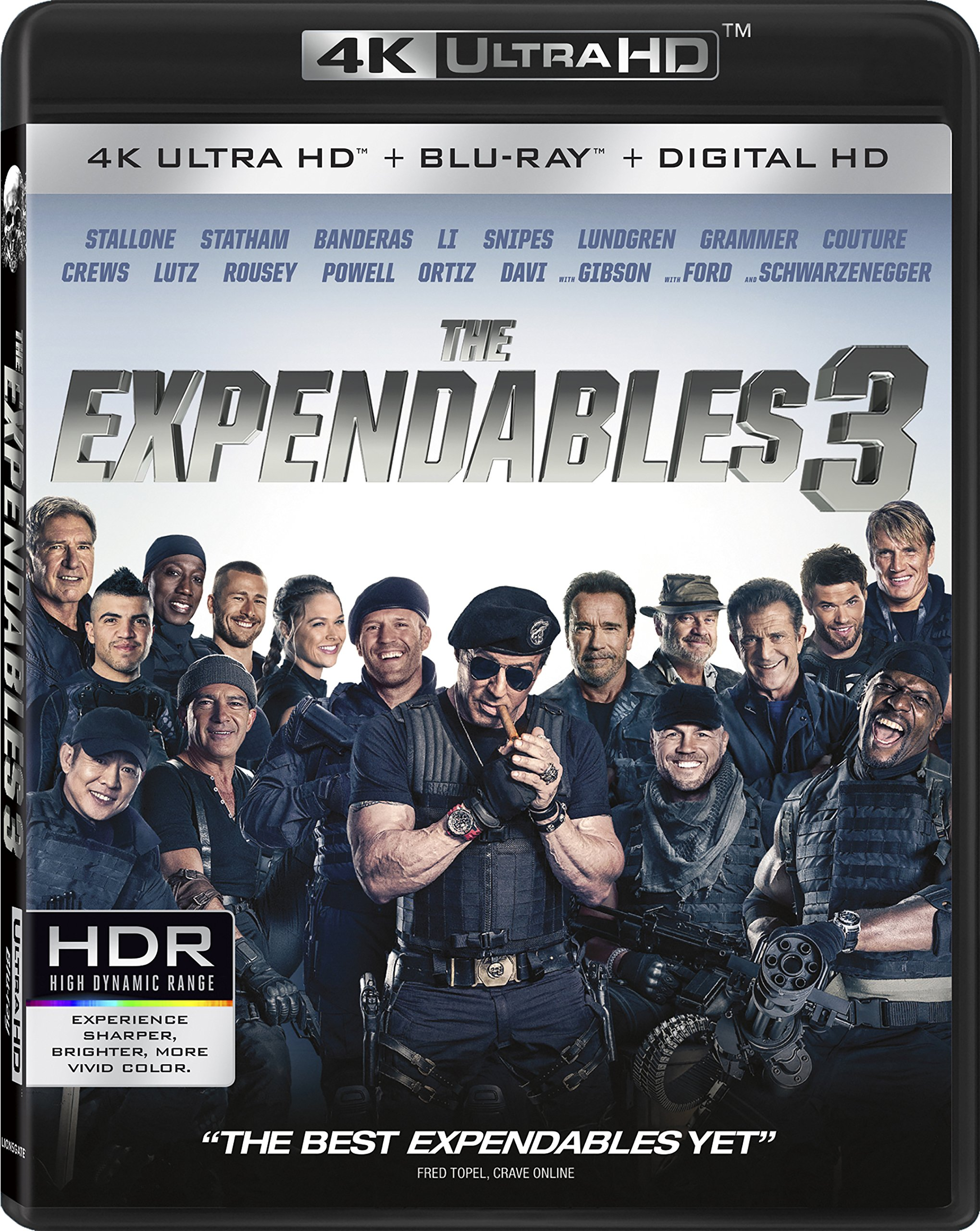 4K Blu-ray : The Expendables 3 (4K Mastering, 2 Pack, 2 Disc)