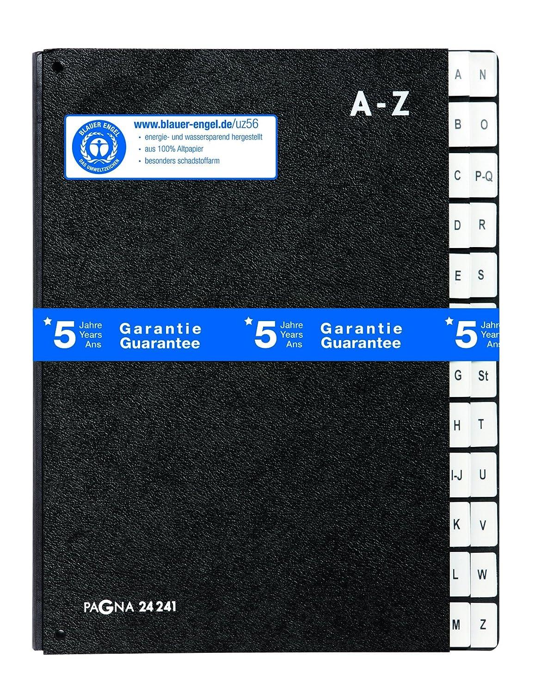 Pagna Pultordner - Carpeta para archivo (separador A-Z, A4), color negro: Amazon.es: Oficina y papelería