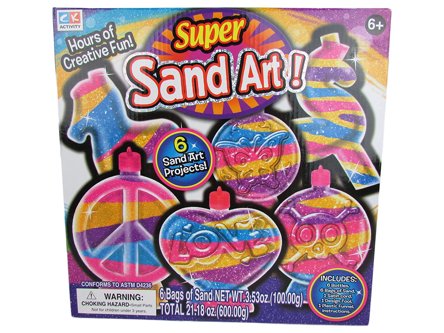 Super Sand Art - 6 Sand Art Projects for Kids to Enjoy