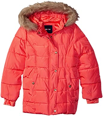 b9e7cf45fade Amazon.com  Limited Too Girls  Memory Coat with Baby Faux Fur Lining ...