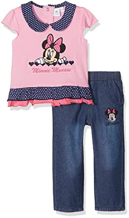 c07f399af Disney Baby Girls  Minnie Mouse Small Hearts Clothing Set  Amazon.co ...