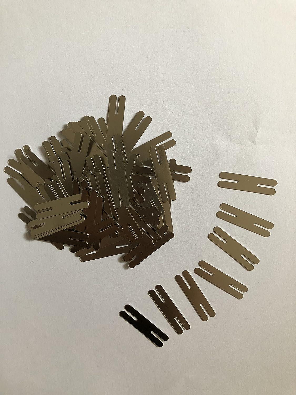 500pcs 0.2*8*30mm H type nickel plated steel strips sheet for battery spot welding welder KT TECH