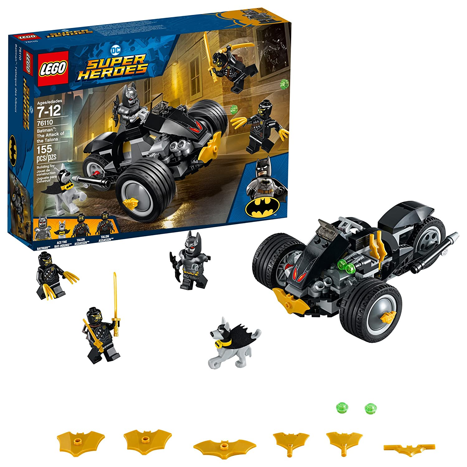 Lego DC Super Heroes Batman: The Attack of The Talons 76110 Building Kit (155 Piece) 6212591