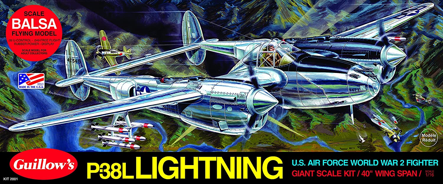 Guillow's Lockheed P-38 Lightning Model Kit