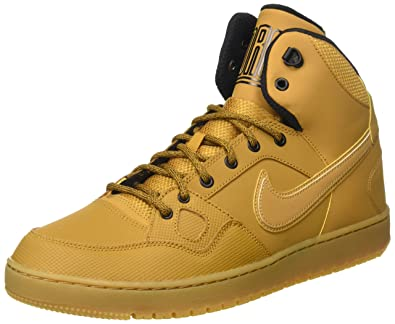 new concept 084eb e1ef7 Nike Men s Son of Force Mid Winter Basketball Shoes, Brown Beige Yellow  Wheat