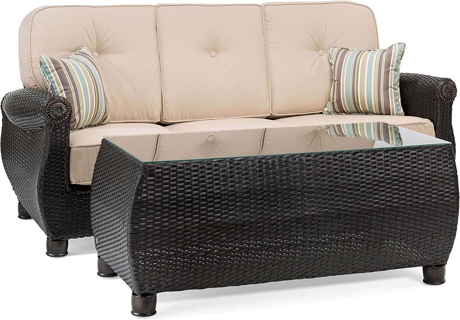 La-Z-Boy Outdoor ABRE CT-N Patio Sofa Set, Natural Tan