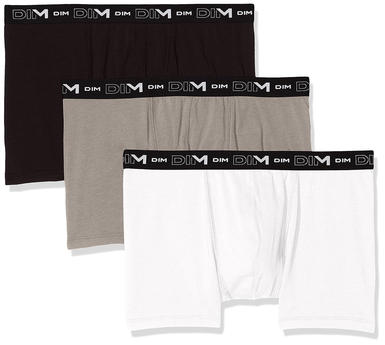 Dim Coton Stretch Boxer X3 Bañador, Noir/Gris/Blanc, Small (Talla ...