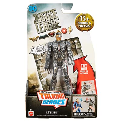 "Mattel DC Justice League Talking Heroes Cyborg Figure, 6"": Toys & Games"
