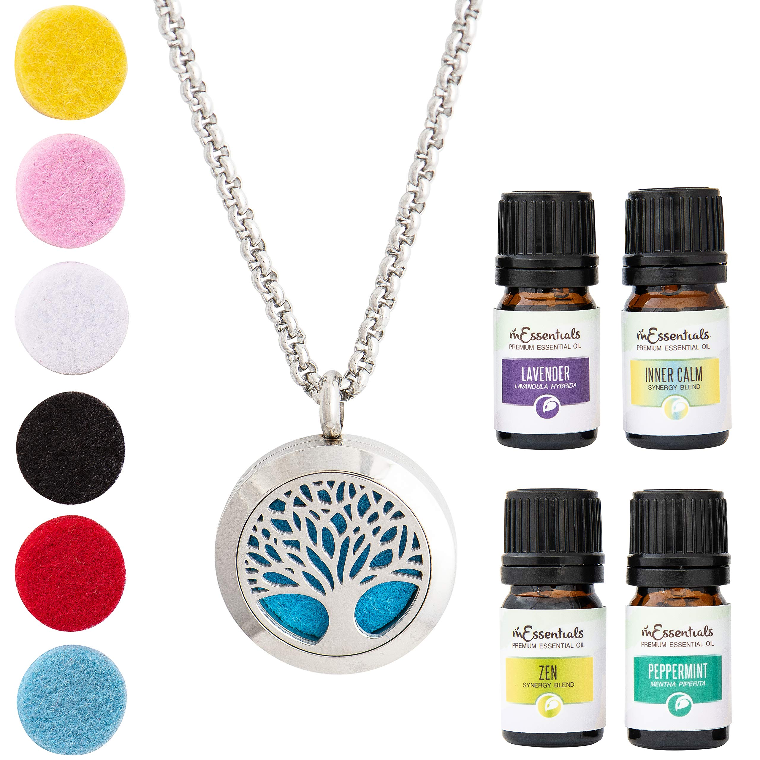 Aromatherapy 25mm Locket Essential Oil Aroma Perfume Diffuser Pendant Keychain Keyrings 5 Pad To Prevent And Cure Diseases