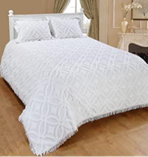 Amazoncom Plow Hearth Tufted Chenille Cotton King Bedspread